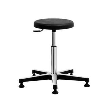 Gref 204 - Antistatic stool with integral polyurethane round seat.