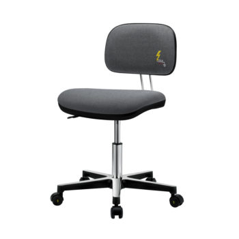 Gref 230 - Antistatic swivel chair with fabric upholstery and castors