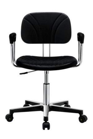 Gref 235 - Antistatic swivel work chair in integral poliurethane, with armrests.
