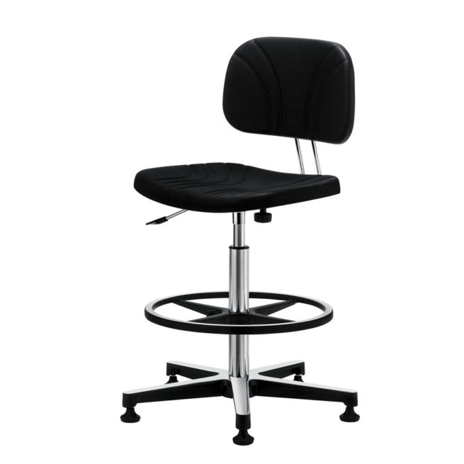 Gref 236 - Antistatic swivel work stool in polyurethane, with glides.