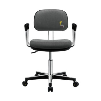 Gref 250 - Antistatic swivel chair with fabric upholstery, with castors and armrests.