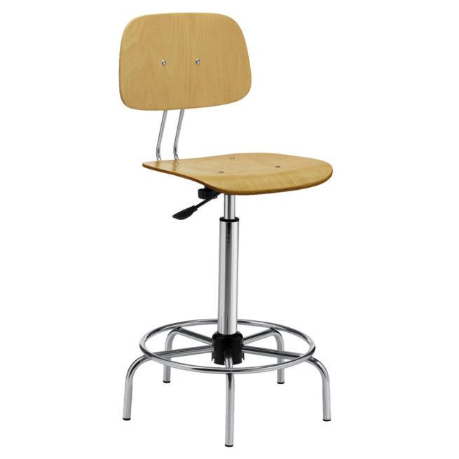 Swivel work stool mod. 1109 beech