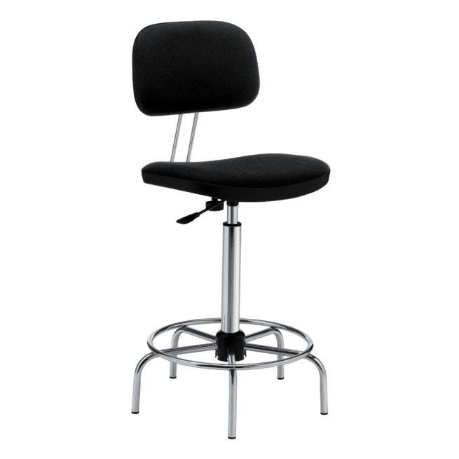 Swivel work stool mod. 1109 upholstered