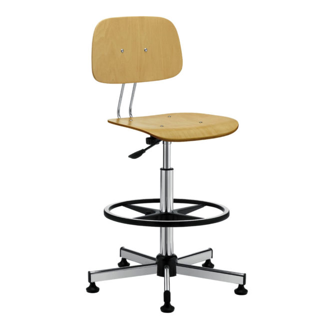 Swivel work stool mod. 1155 beech