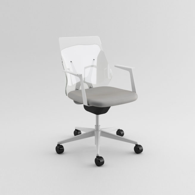 Shine 100 - Transparent swivel armchair