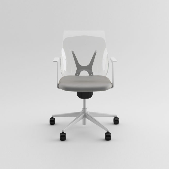 Shine 100 - Transparent chair with swivel armrests