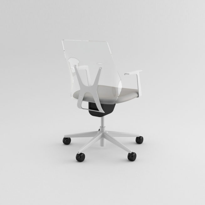 Shine 100 - transparent chair with backrest