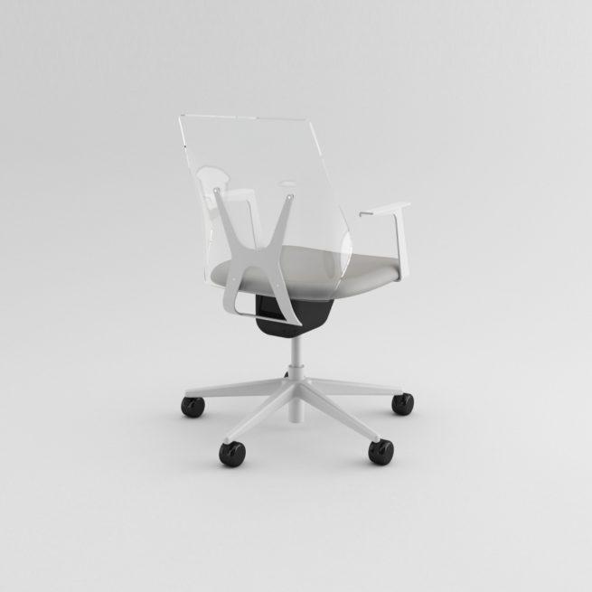 Shine 100 - sedia con schienale trasparente