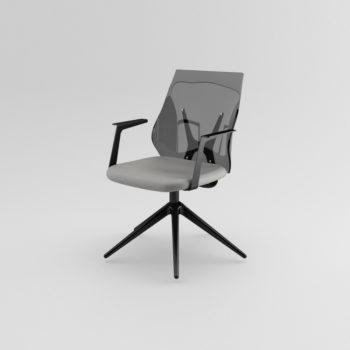 Shine 120 - Sedia con schienale trasparente e braccioli