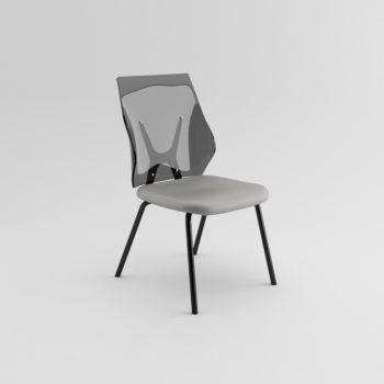 Shine 140 - Sedia fissa con schienale trasparente